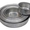 Bizcochuelos de aluminio x 5 cm de altura